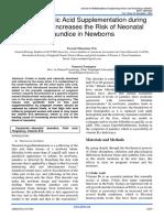 synthetic folid acid supplementation during pregnancy increases the risk of neonatal jaundice in newborns ,somayeh zaminpira,sorush niknamian
