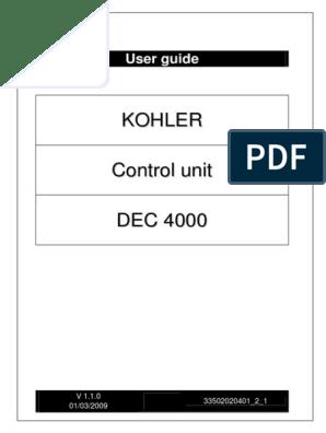 DEC4000 Operation Manual | Usb | Electronics on