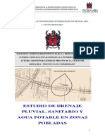 Memoria Drenaje Pluvial, Sanitario y Agua Potable