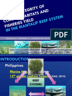 LINKING INTEGRITY OF COASTAL HABITATS AND FISHERIES YIELD IN THE MANTALIP SYSTEM