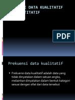 Prekuensi Data Kulitatif