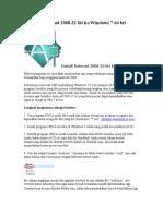 Instalasi Autocad 2008 32 bit ke Windows 7 64.doc