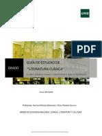 Guía Literatura Clásica II Curso 15-16
