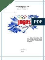 Relatorio Dos Jogos Internos 2016 (IRM)