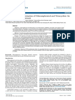 Trivedi Effect - Spectroscopic Characterization of Chloramphenicol and Tetracycline