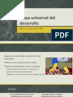 Etapa Universal Del Desarrollo
