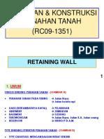 II. Kuliah Retaining Wall
