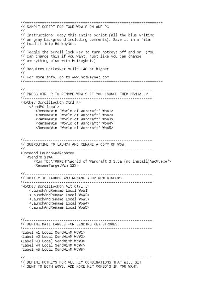 Script War Mane | Keyboard Shortcut | World Of Warcraft