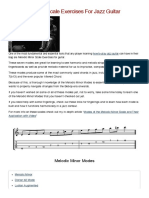 9 Melodic Minor Scale Exercises for Jazz Guitar
