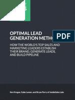 Optimal Lead Generation