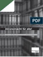 Akteneinsicht für alle! Ein Leitfaden zum Informationsfreiheitsgesetz Nordrhein-Westfalen