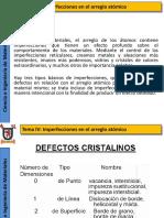 IV Imperfecciones en El Arreglo atómico (1)