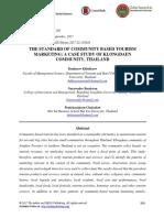 The Standard of Community Based Tourism Marketing-A Case Study of Klongdaen Community, Thailand