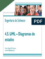 4.5 UML Diagramas de Estados
