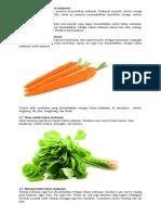 1. Tumbuhan Sebagai Bahan Makanan