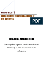 Chapter 9 - Financial Aspects of the Business