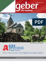 Ratgeber aus Ihrer City-Apotheke – September 2017