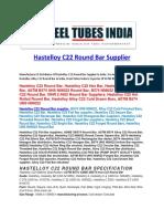 Hastelloy C22 Round Bar Supplier