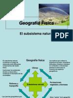 Geografía Física. El Subsistema Natural