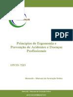 UFCD - 7223 - Princípios de Ergonomia e Prevenção de Acidentes e Doenças Profissionais