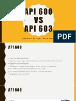 API 600 vs API 603
