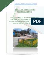 Operacion y Mantinimiento - Plaza