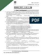 Neet - Combined Test - 3 (p, c, b) - 16.07.2017