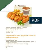receta alitas de pollo