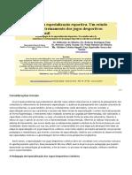 A Pedagogia Da Especialização Esportiva Um Estudo Sobre o Ensino-Treinamento Dos Jogos Desportivos Coletivos No Brasil 2010