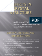 Crystal Defect Presentation