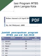 Hasil Pencapaian Program Mtbs Tahun 2016