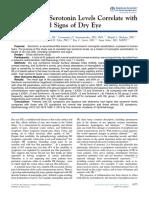 Human Tear Serotonin Leverl Correlate With Dry Eye