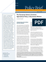 The European Union's Common Agricultural Policy