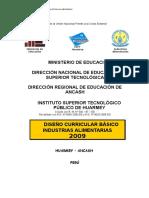 Diseno Curricular Basico de Institutos Superior Tecnologicos Ley 29394
