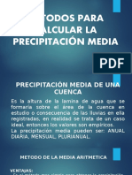 Metodos Para Calcular La Precipitación Media