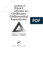 Handbook Differential Equation