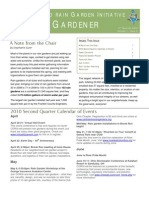 2nd Quarter 2010 the Rain Gardner Newsletter, Central Ohio Rain Garden Initiative