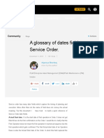A Glossary of Dates Fields on Service Order
