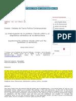 Claude Lefort y El Dispositivo Simbolico de La Democracia