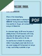 Procedure Manual DEA (1)
