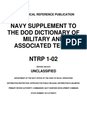 Navy Supplement to the DOD Dictionary of Military and Associated pdf