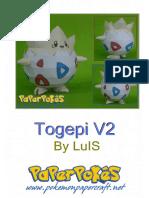 Togepi V2 A4 Lineless Shiny