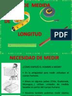 DESCRIPIÓN DE LA UNIDADES DE MEDIDA DE LONGITUD - CENTÍMETRO - METRO - MILIMETRO