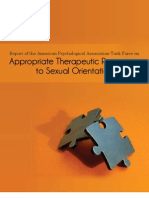 Appropriate Therapeutic Responses to Sexual Orientation - APA