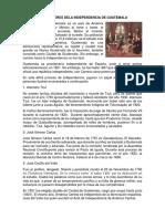 Los Próceres Dela Independencia de Guatemala