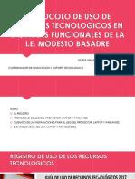 Protocolo de Uso de Recursos Tecnologicos Julissa.