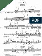 Takemitsu Voice for Solo Flute