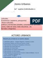 Actores Urbanos