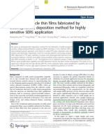 Au NPs Thin Films Fabricated by Electrophoretic Deposition Method for Highly Sensitive SERS Application Odi Yes