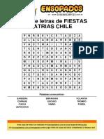 Sopa de Letras de Fiestas Patrias Chile